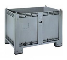 Műanyag fix oldalfalú konténer (1200x800x850)