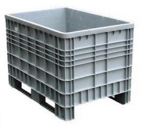 Műanyag 2 csúszótalpas konténer (1200x800x800) - 08-006